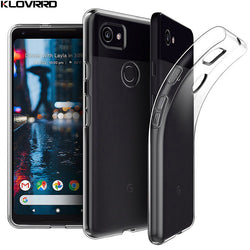 KLOVRRD Soft Transparent Silicone Case For Google Pixel, Pixel XL, Pixel 2, Pixel 2 XL