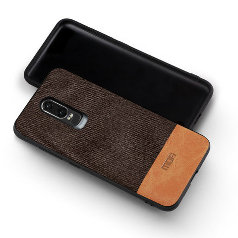 MOFi Fabric and Leather Design Case for OnePlus 6