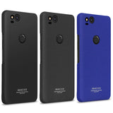Matte or Metal Textured Phone Case for Google Pixel 2, 2 XL with Free Screen Protector and Detachable Ring Grip