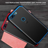 GerTong Ultra Thin Transparent Case with Electroplated Corners for OnePlus 5, 5T, 6