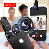 GETIHU Universal 3-in-1 Clip-on Camera Lens - Fisheye, Macro and Wide-Angle