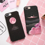 KISSCASE Luxury Airplane and Moon Design Case For iPhone 5, 5S, 5C, SE, 6, 6 Plus, 6S, 6S Plus, 7, 7 Plus, 8, 8 Plus, X, XR, XS, XS Max