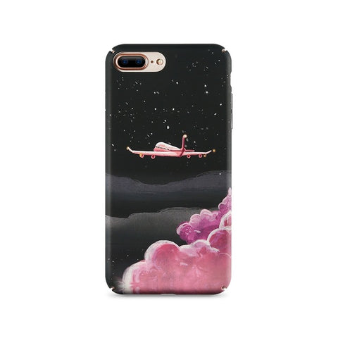 KISSCASE Luxury Airplane and Moon Design Case For iPhone 5, 5S, 5C, SE, 6, 6 Plus, 6S, 6S Plus, 7, 7 Plus, 8, 8 Plus, X