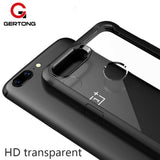 GerTong Luxury Transparent Case with Silicone Airbag Corners For OnePlus 5T and OnePlus 6