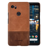 Luxury Two Colour Genuine Leather Case for Google Pixel 2 XL