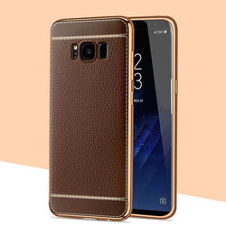 MouseMi Spedu Litchi Leather with Metal Frame Case For Samsung Galaxy Phones