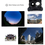 Professional 6 Camera Lens Case For iPhone 7 Plus, 8 Plus, X - Fisheye, Telephoto, Wide-Angle, 10X Macro, 20X Macro