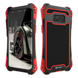 R-Just AMIRA Carbon Fibre and Aluminium Hybrid Super Armour Case For Samsung Galaxy S8, S8 Plus, S9, S9 Plus, Note 8