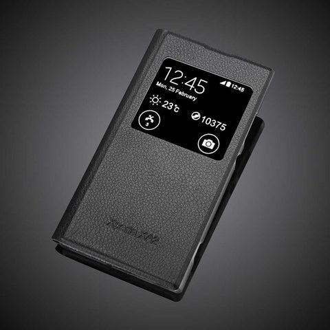 Smart Window Leather Flip Case For Sony Xperia XA2