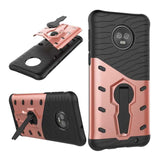 LOKAKA Armour Case with Kickstand for Motorola G6, G6 Plus