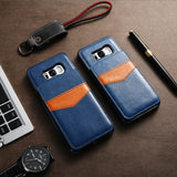 KISSCASE Leather Vertical Flip Pouch Wallet Case for Samsung Galaxy S6, S6 Edge, S7, S7 Edge, S8, S8 Plus, S9, S9 Plus, S10E, S10, S10 Plus, Note 9, Note 10, Note 10 Plus