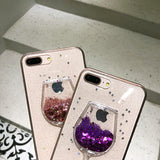 Moving Glitter Red Wine Case for iPhone 4, 4S, 5, 5S, SE, 6, 6S, 6 Plus, 6S Plus, 7, 7 Plus, 8, 8 Plus, X, XR, XS, XS Max