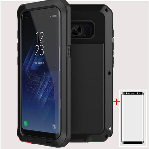 AKASO Heavy Duty Metal Armour Case For Samsung Galaxy S4, S5, S6, S6 Edge, S6 Edge Plus, S7, S7 Edge, S8, S8 Plus, S9, S9 Plus, Note 4, Note 5, Note 8