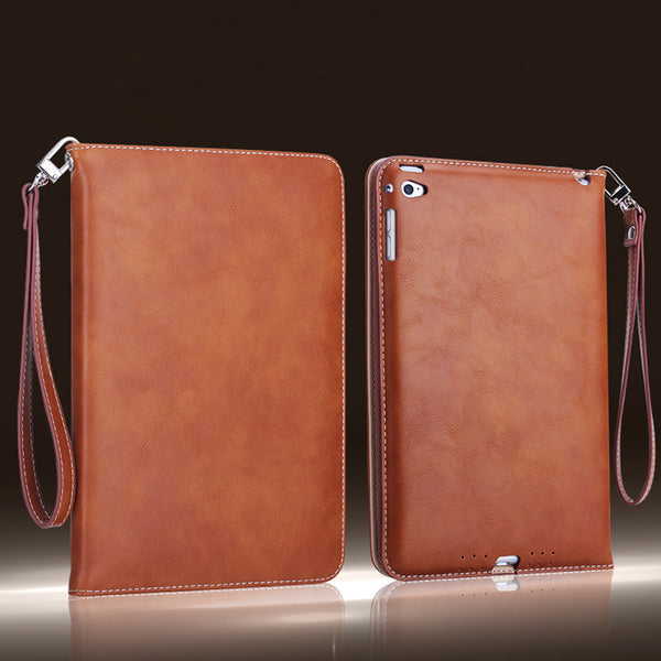 Utoper Retro Hand Belt Leather Flip Case For iPad Mini 4