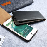 KISSCASE Vertical Flip Leather Case for iPhone 5, 5S, 5C, SE, 6, 6 Plus, 6S, 6S Plus, 7, 7 Plus, 8, 8 Plus