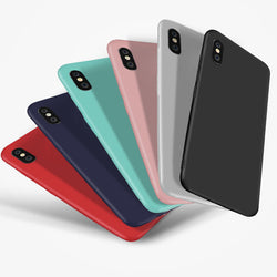 Soft Silicon Logo Window Case for iPhone 6, 6S, 6 Plus, 6S Plus, 7, 7 Plus, 8, 8 Plus, X, XR, XS, XS Max