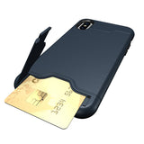 Armour Case with Hidden Credit Card Slot For iPhone 6, 6 Plus, 6S, 6S Plus, 7, 7 Plus, 8, 8 Plus, X, XR, XS, XS Max, 11, 11 Pro, 11 Pro Max, SE 2020