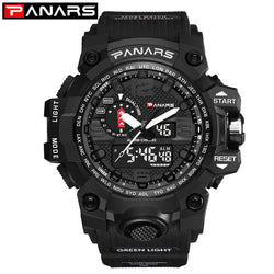 PANARS Rugged Outdoor Military Sports Series Watch - 50 Metres Water Resistance and Digital LED Back-light