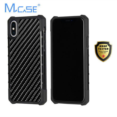 Mcase Genuine Carbon Fibre Armour Case for iPhone 7, 7 Plus, 8, 8 Plus, X, XR, XS, XS Max