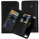 Double Flip Magnetic Leather Wallet Case For Samsung Galaxy Phones (S5, S6, S7, S8, S9, S10, Note 4, 5, 8, 9)