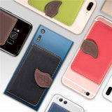 3M Adhesive Elastic PU Leather Flip Wallet - Phone Add-on Accessory