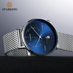 STARKING Official Branded AM0269 Luxury Mechanical Stainless Steel Men's Watch - 28800 High-Beats Automatic Self-Winding Movement