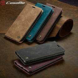 CaseMe Retro Wallet Magnet Flip Case For iPhone 5, 5S, 5C, SE, 6, 6 Plus, 6S, 6S Plus, 7, 7 Plus, 8, 8 Plus, X, XR, XS, XS Max