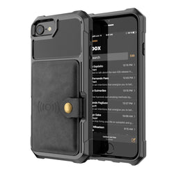 Magnetic Flip Bank Card Storage Case for iPhone 6, 6 Plus, 6S, 6S Plus, 7, 7 Plus, 8, 8 Plus, X, XR, XS, XS Max, 11, 11 Pro, 11 Pro Max