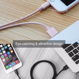 ROCK Nylon Braided Lightning Charging Cable for Apple Devices by Rock - Titanwise