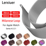 Lerxiuer Milanese Loop Strap Band for Apple Watch Series 1, 2, 3, 4, 5 - 15 colours