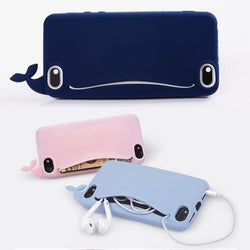 Cute Whale Storage Case for iPhone 4, 4S, 5, 5S, 5C, SE, 6, 6S, 7 by Meaford - Titanwise