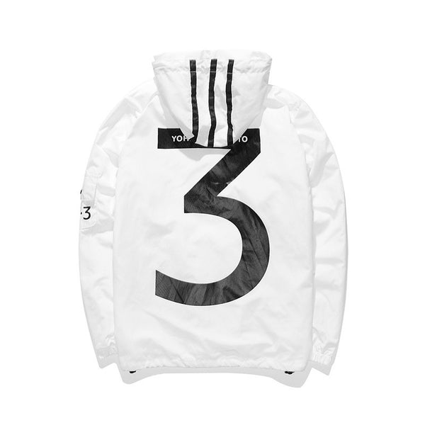 Y3 WINDBREAKER WHITE