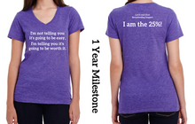 1 Year - Ladies Cut V-Neck T-Shirt