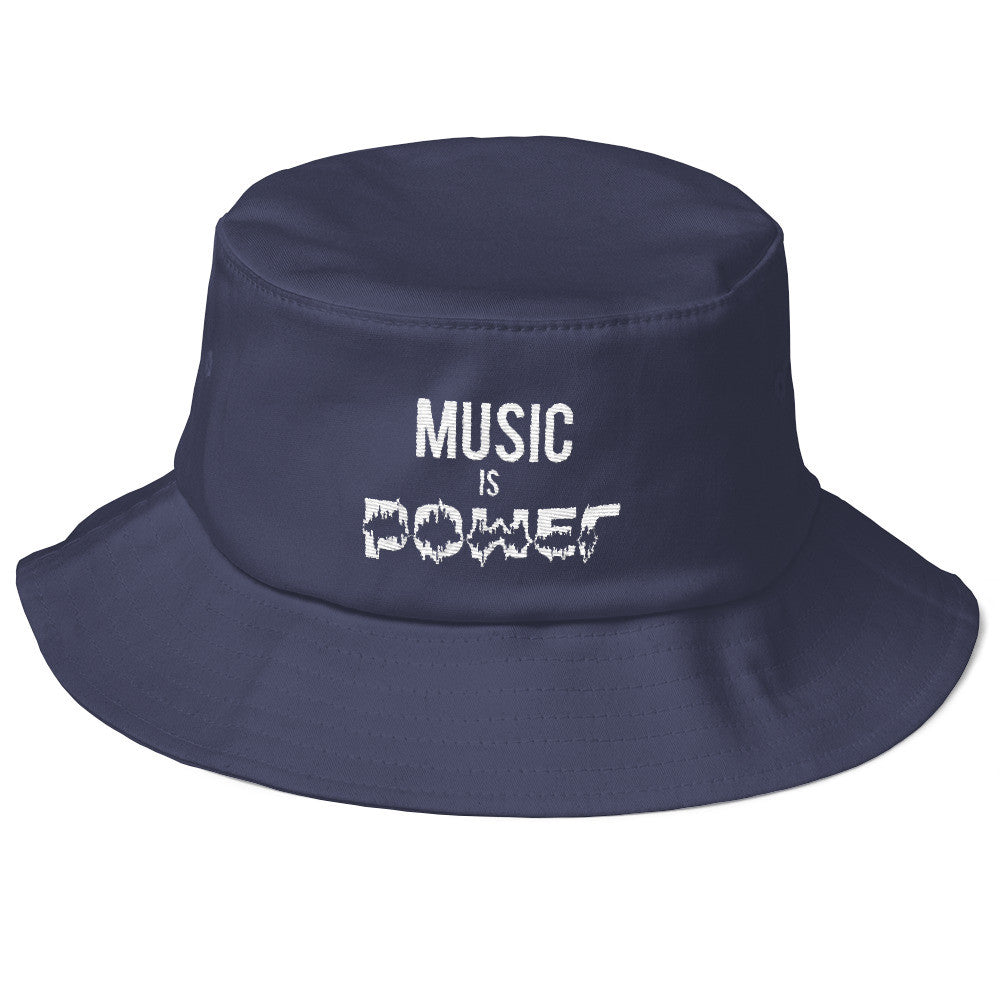 Old School MUSIC  IS POWER Bucket Hat