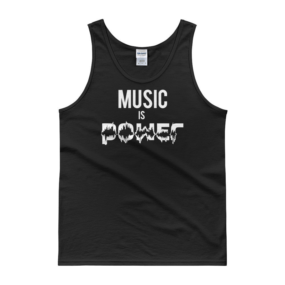 Music Is Power Mens + Unisex Tank top
