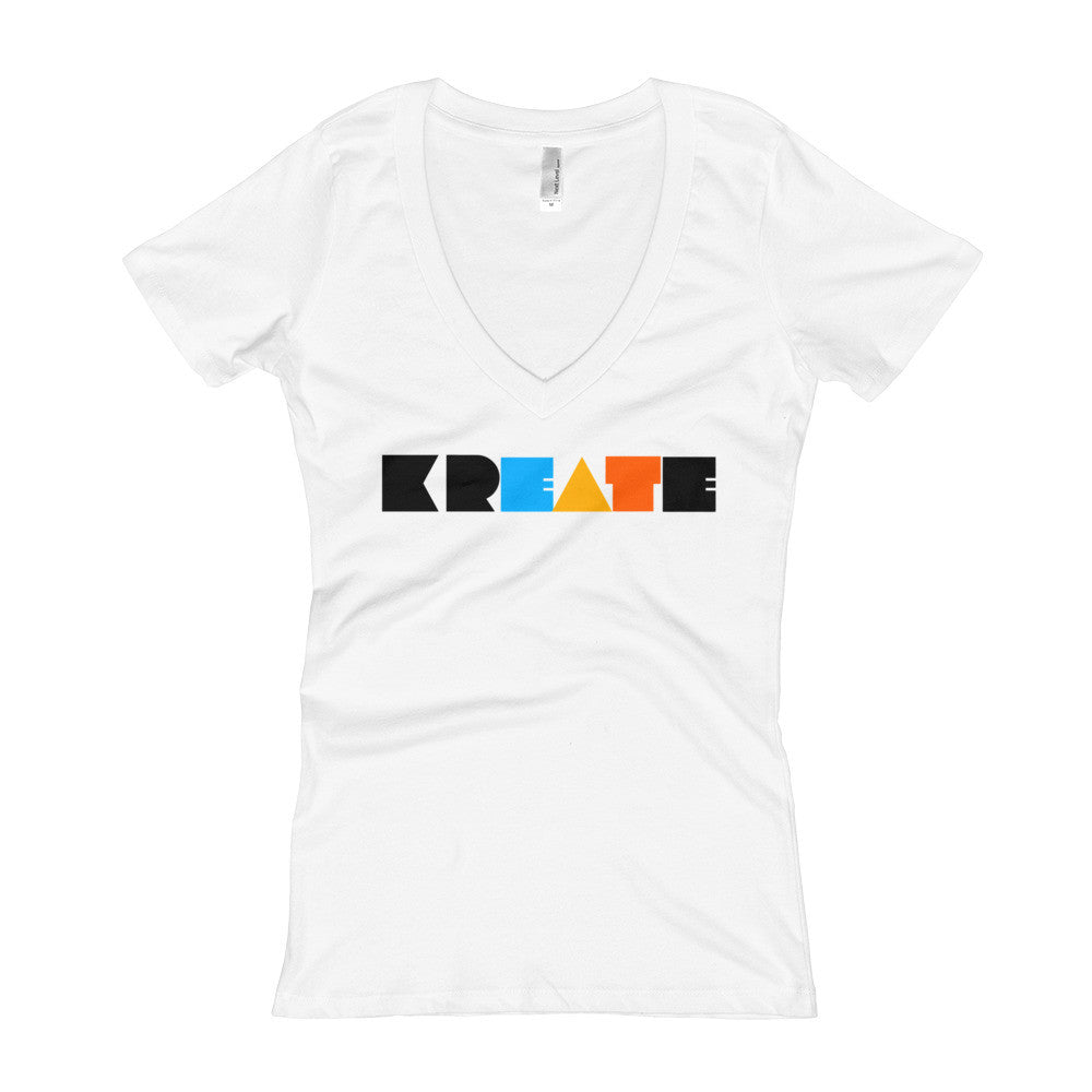 KREATE Collection Women's V-Neck T-shirt