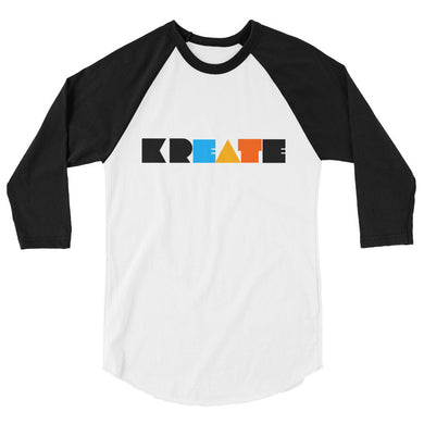 KREATE Collection 3/4 sleeve classic baseball shirt
