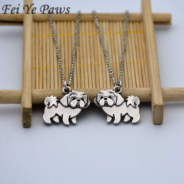 Tiny Shih Tzu Pendant Necklace