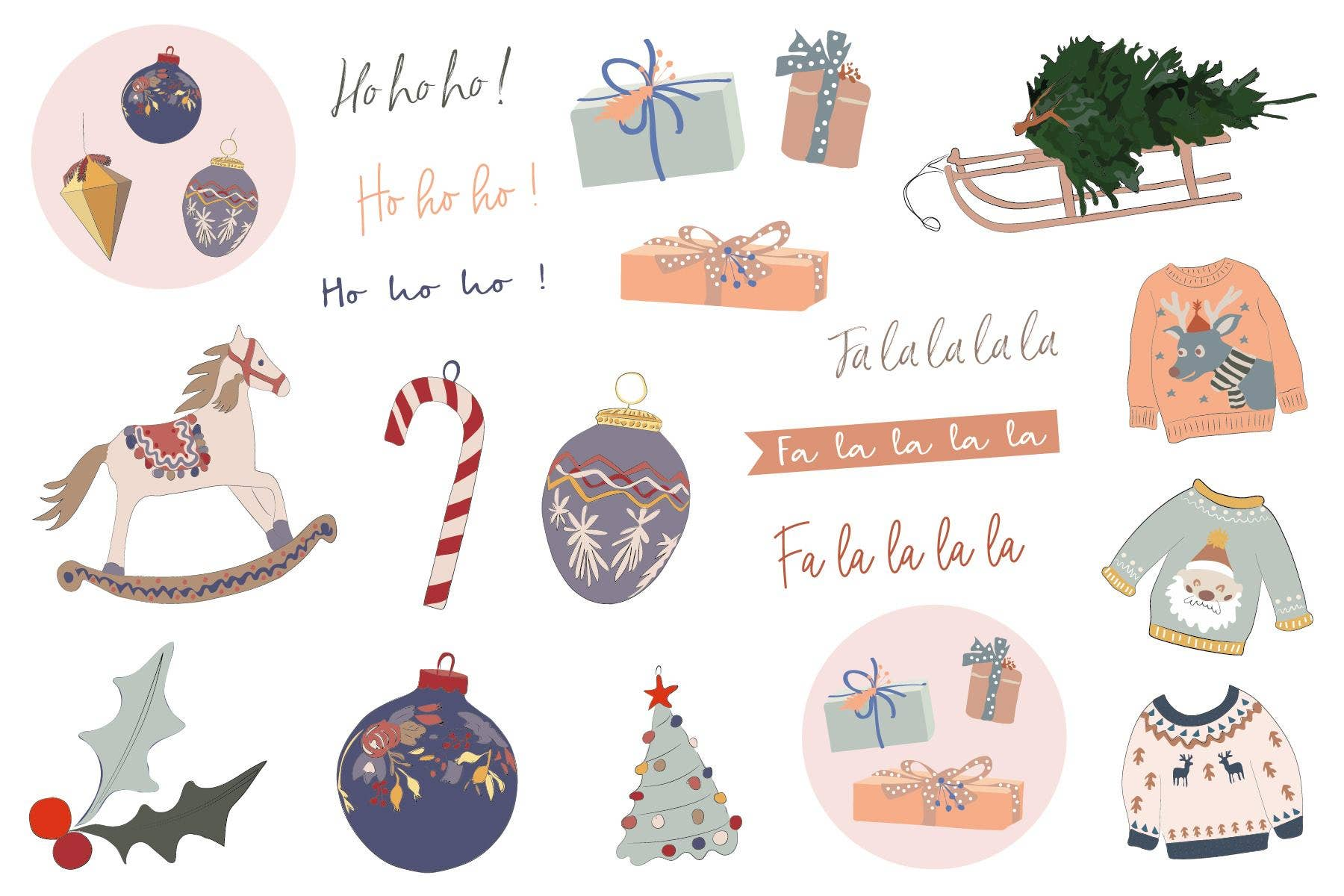 Holiday Stickers Sheet