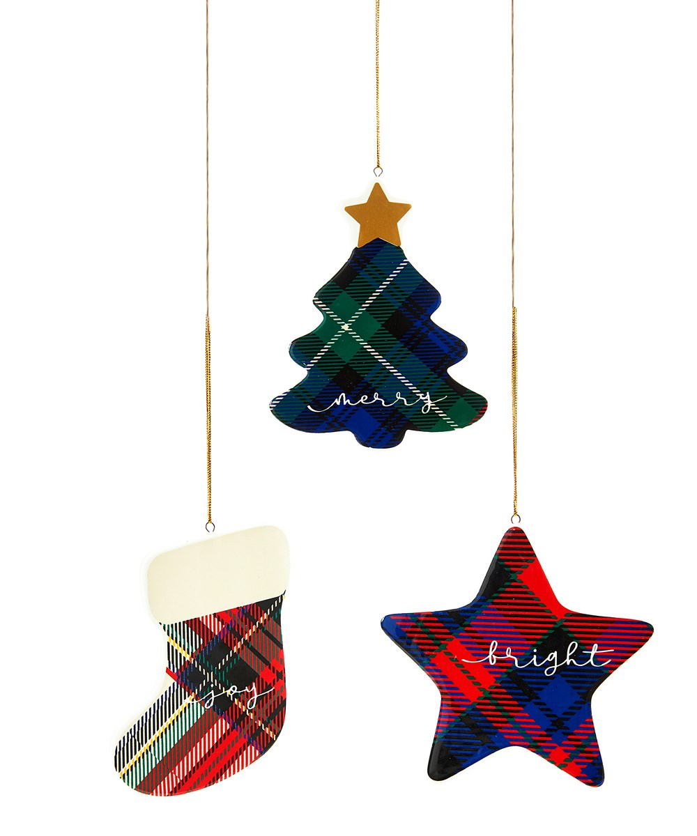 PLAID ORNAMENT