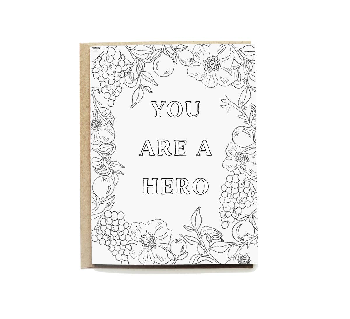 Hero Colouring Card