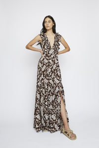 DARK PAISLEY MAXI DRESS