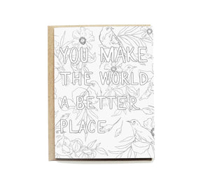 Better World Colouring Card
