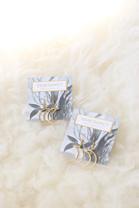 THE MINI MOON TIDE EARRINGS