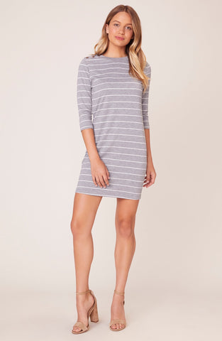 MY STRIPE OF GAL STRIPED SHIFT DRESS