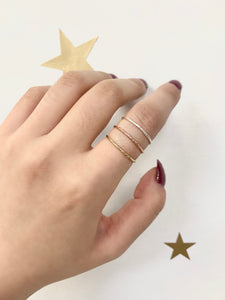 SPARKLE WIRE STACKER RING (SILVER, GOLD & ROSE GOLD)