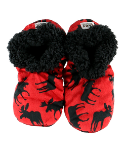 Fuzzy Feet Classic Moose Red