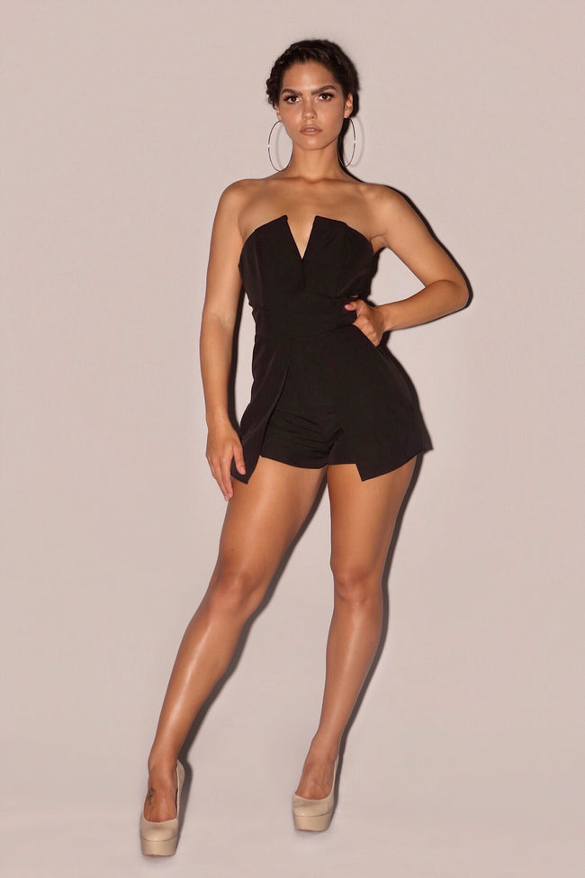 MANHATTAN ROMPER | BLACK