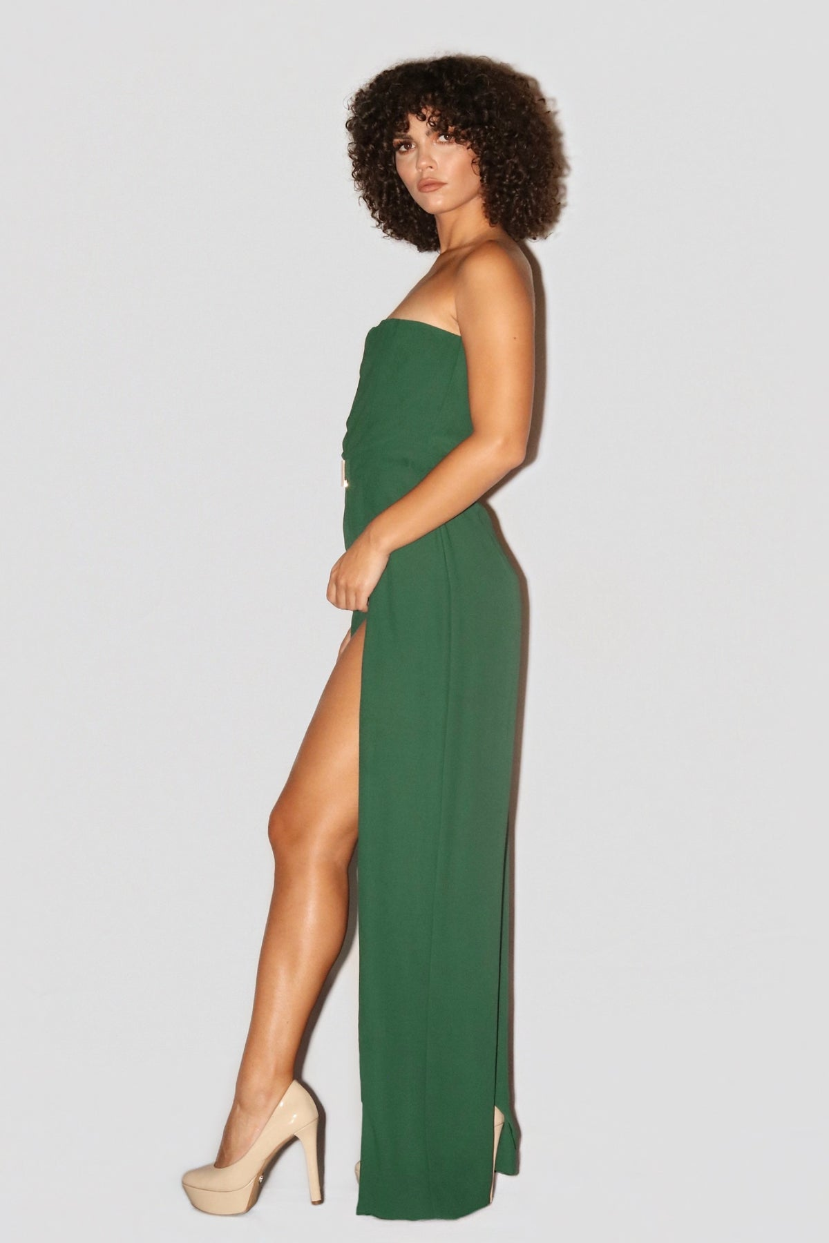 FALL FOR YOU JUMPSUIT | HUNTER GREEN