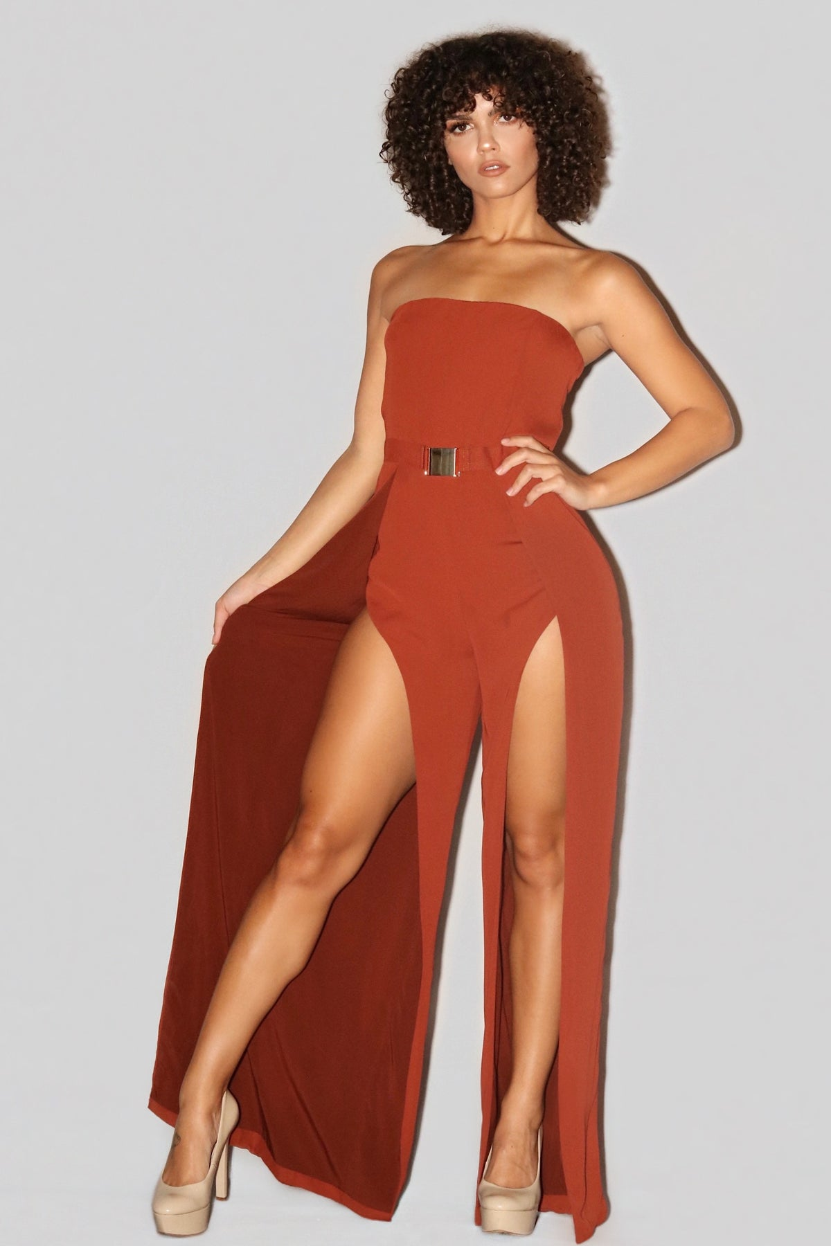 FALL FOR YOU JUMPSUIT | RUST